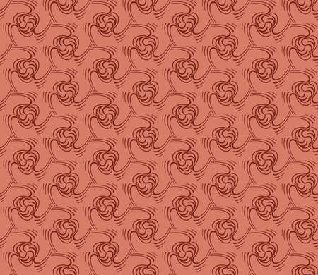 decorative seamless geometric pattern. modern design. vector illustration. brown color Banque d'images - 97574827
