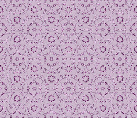 beautiful geometric seamless pattern of different geometric shapes. vector illustration. purple color Stock Illustratie