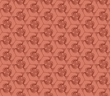 Decorative seamless geometric pattern. Modern design. Vector illustration. Brown color.