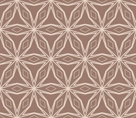 beautiful seamless geometric pattern with abstract floral design. modern vector illustration for design print, textile product, invitation background. beige color  Illustration