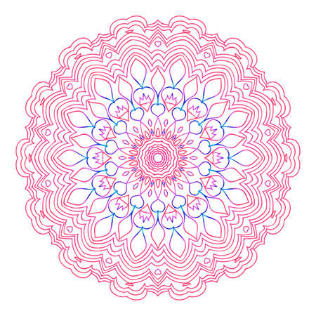 Round floral mandala decorative ornament.