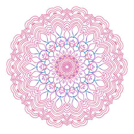 Round floral mandala decorative ornament. Stock Vector - 97717383