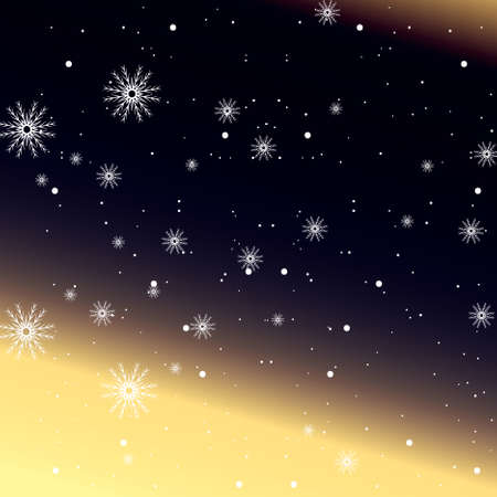 dark blue background with snowflake. vector illustration 矢量图像