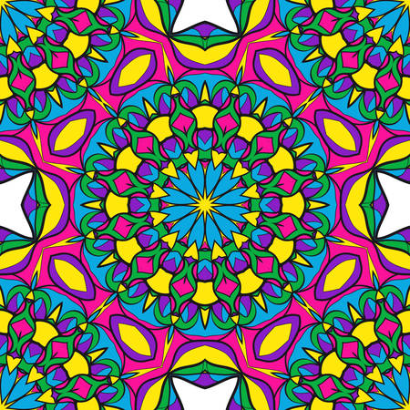Ornamental flower mandala pattern. Endless Texture. vector illustration. For design invitation, background, wallpaper