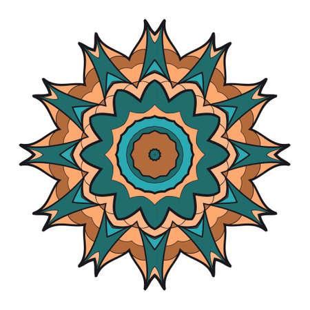 Flower coloring Mandala. decorative elements. Oriental pattern, vector illustration.
