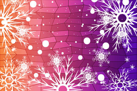 Christmas Background with snowflake. Abstract Vector Illustration