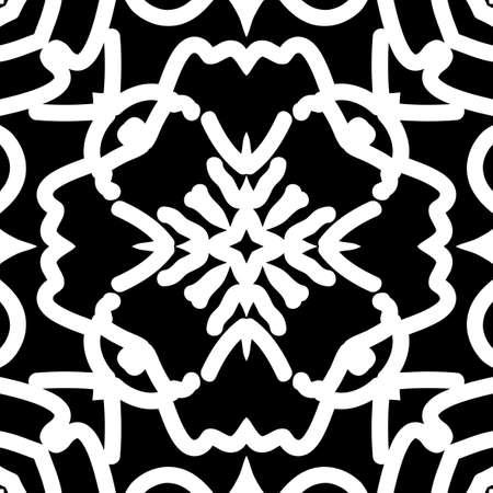 Oriental floral pattern vector illustration hand drawn kaleidoscope background