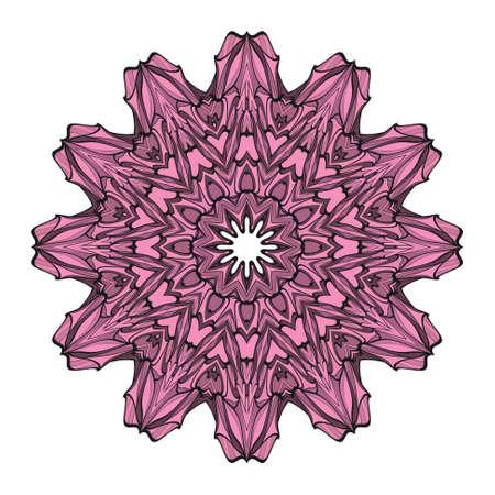 mandala element. Vector illustration. design for greeting card, invitation, tattoo. Illustration
