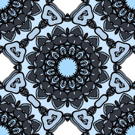 Floral mandala pattern outline image design illustration