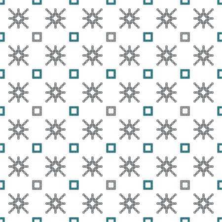 scheme for embroidery Cross stitch pattern for clothing. Mosaic seamless pattern. Ethnic ornament. vector. For embroidery pattern. for the textile industry, home crafts Standard-Bild - 97764092