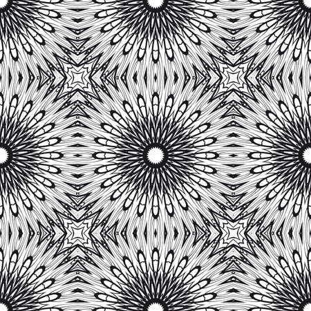 Floral Geometric Line seamless pattern Illustration.