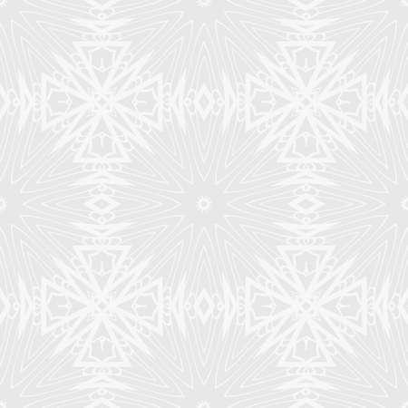 Whit and light grey seamless floral pattern vector illustration Illusztráció