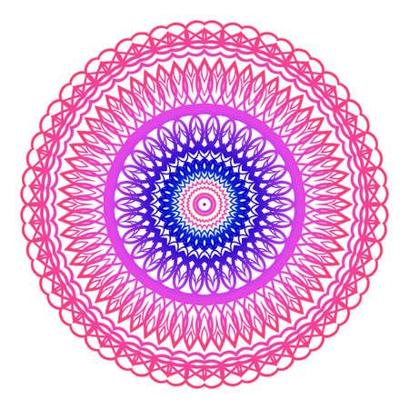mandala. creative anti-stress ornament. vector illustration blue, purple color.