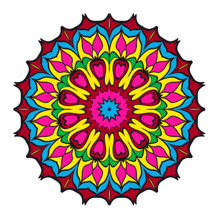 Decorative coloring mandala. vector illustration. Anti-stress therapy pattern.