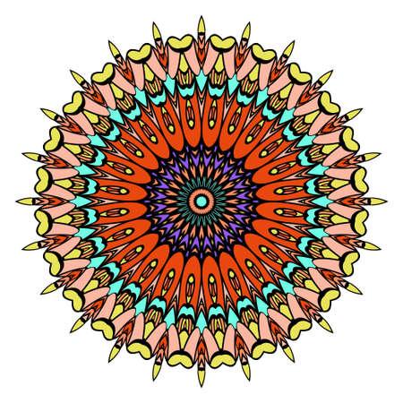 Mandala, highly detailed vector illustration, ethnic tribal tattoo motive. Anti-stress illustration