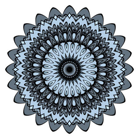 Decorative coloring mandala vector illustration. Anti-stress therapy pattern.