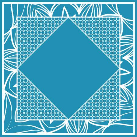 art deco ornament with hexagon. decorative frame.