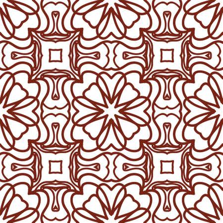 Seamless floral pattern. Geometric leaf ornament.
