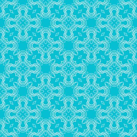 modern floral pattern of geometric ornament. Seamless vector illustration. for interior design.blue color