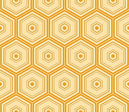 modern decorative ornament with simple geometric shape. vector illustration. orange color Illustration