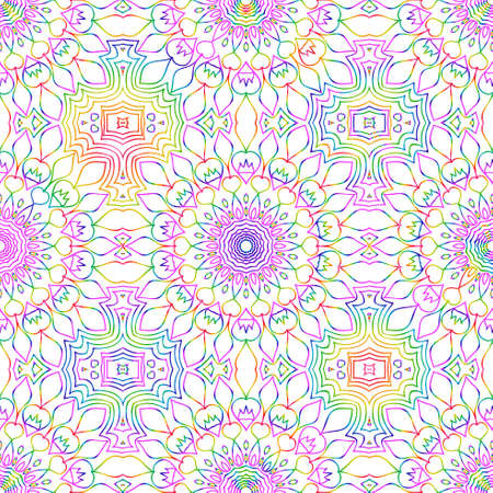 beautiful rainbow color seamless floral pattern. lace texture. vector illustration. design print