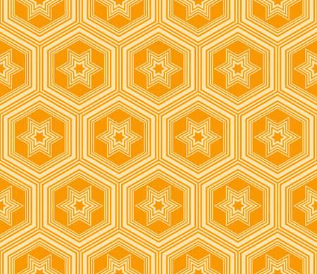 modern geometric ornament. seamless vector illustration. orange color