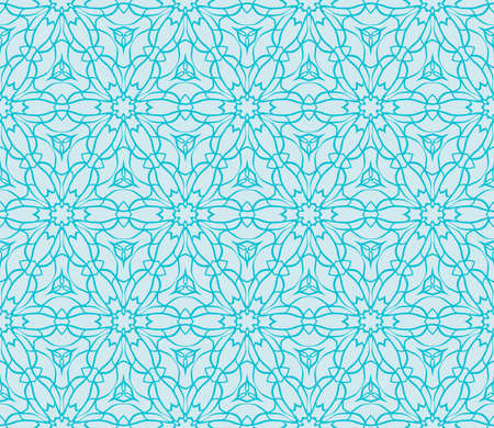 Ornamental seamless lace pattern in geometric style. Floral ornament. vector illustration. For design cloth, paper, print, textile. blue ocean water color 일러스트