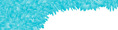 Horizontal web banner with floral insert. vector illustration. blue color style 矢量图像