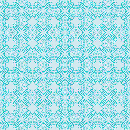seamless geometry pattern. vector illustration. texture for design wallpaper, pattern fills, fabric, wrapping paper. light blue color