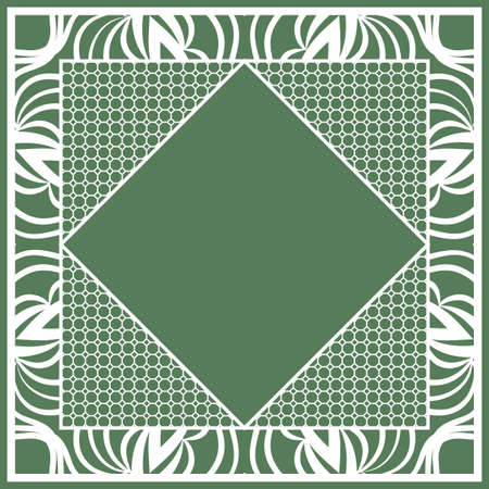 lace print with floral ornament. tablecloth. vector illustration