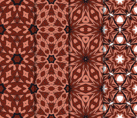 set of art and fashion geometric seamless pattern. vector illustration. brown color. design for wallpaper, fabric