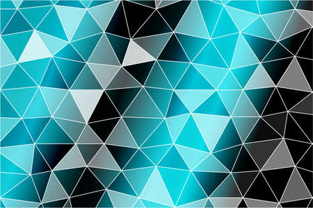 Bright background for greeting cards. Polygon background black, blue color. Vector illustration. To implement your design ideas, business subjects, successful presentations.