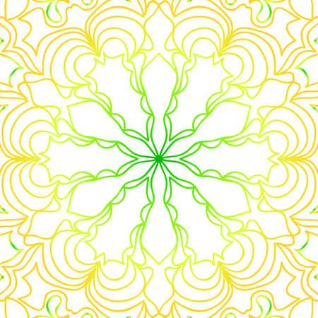 summer color floral background. hand drawn ethnic decorative ornament. vector illustration.