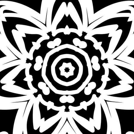 oriental floral pattern. vector illustration. hand drawn kaleidoscope background Ilustração