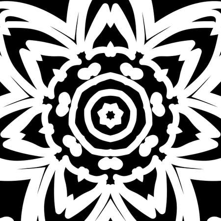 oriental floral pattern. vector illustration. hand drawn kaleidoscope background Illustration