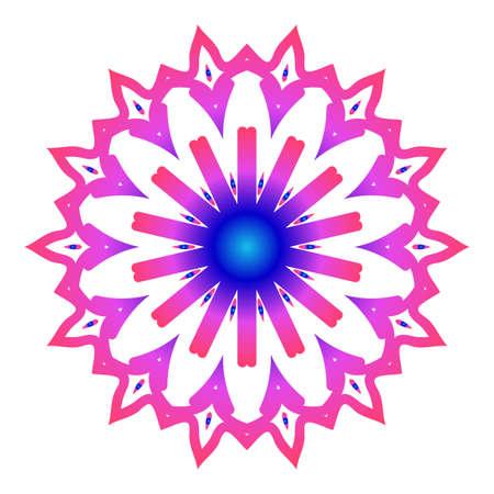 Mandala. Creative anti-stress ornament.