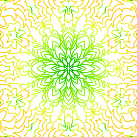 Summer color floral background. Hand drawn ethnic decorative ornament.