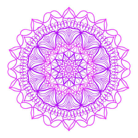 Floral Mandala. Vector illustration. Ethnic Circle Ornament. Illustration