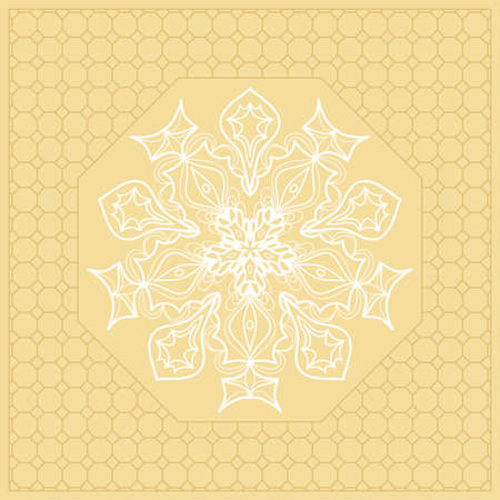 Template Print for Fabric Golden color Ilustração