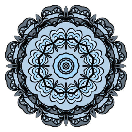 Round floral pattern. Decorative coloring Mandala. Illustration