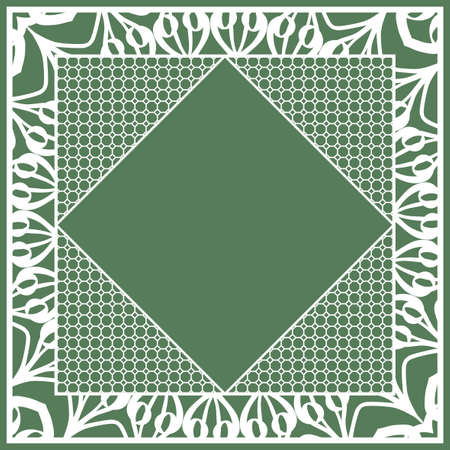 Print for fabric with ornamental border Design for table cloth, scarf, Carpet, Pillow case.
