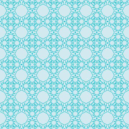 Seamless blue geometry pattern.