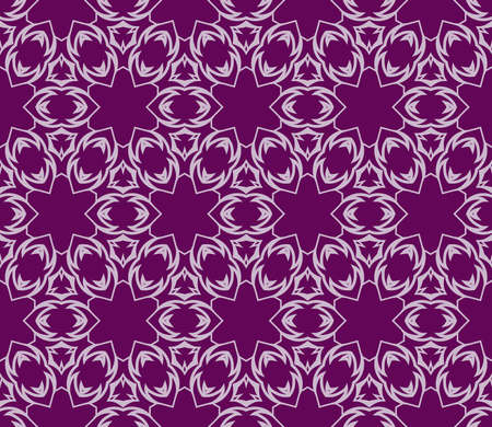 purple color decorative geometric seamless pattern vector.
