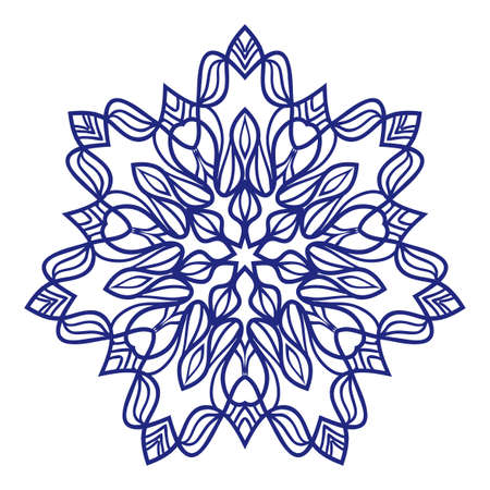 floral Mandala decorative ornament. Vector illustration. for coloring book, greeting card, invitation, tattoo.