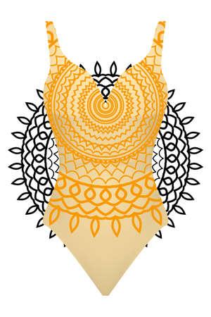 Mens Colorful Mandala Pattern Vector Vintage Printed Popular Beach Swim Trunk Summer Holiday