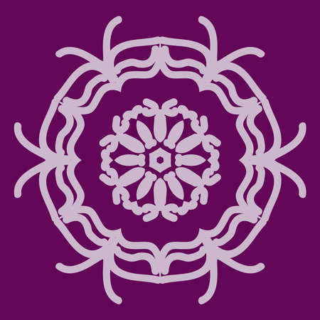 Mandala decorative ornament. Vector illustration. greeting card, invitation. purple color
