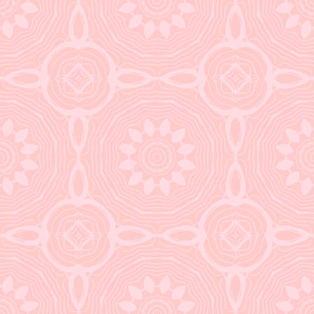 art deco abstract floral seamless pattern  rose color monochrome vector illustration