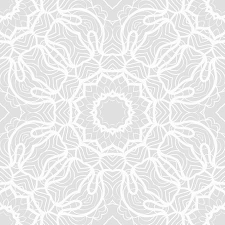 Seamless lace pattern with abstract floral ornament vector illustration.