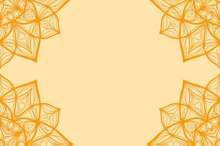 Carte d & # 39 ; invitation au vecteur de vacances illustration . ornement floral stylisé lumineux pour le mariage et anniversaire en orange , la couleur Banque d'images - 98274450