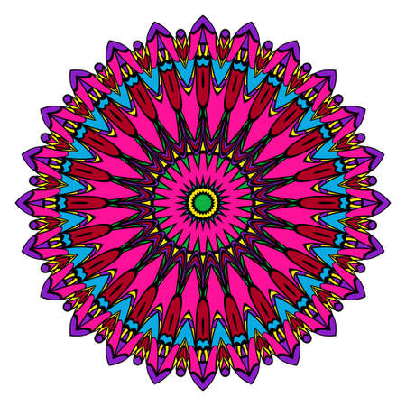 Mandala spiritual symbol, Decorative round ornament. Illustration